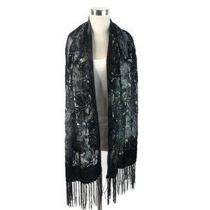 INC International Concepts Black Floral Scarf